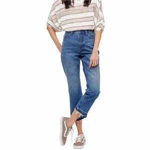 Free People High Rise Release Hem Crop Jean 131